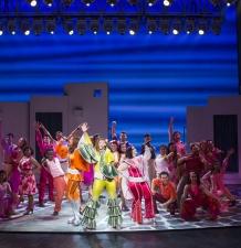 The Company of the MAMMA MIA! Farewell Tour MAMMA MIA! Farewell Tour, Kevin Thomas Garcia, 2016.