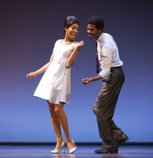 Allison Semmes as Diana Ross, Julius Thomas III as Berry Gordy MOTOWN THE MUSICAL First National Tour (C) Joan Marcus, 2015
