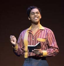 Jesse Nager as Smokey Robinson MOTOWN THE MUSICAL First National Tour (C) Joan Marcus, 2015