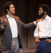 Jesse Nager as Smokey Robinson, Julius Thomas III as Berry Gordy MOTOWN THE MUSICAL First National Tour (C) Joan Marcus, 2015