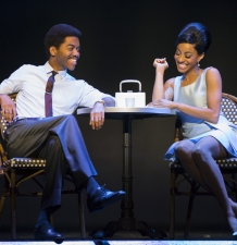 Julius Thomas III as Berry Gordy, Allison Semmes as Diana Ross MOTOWN THE MUSICAL First National Tour (C) Joan Marcus, 2015