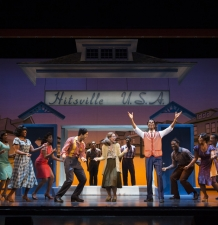 Julius Thomas III as Berry Gordy (center right) & Cast MOTOWN THE MUSICAL First National Tour (C) Joan Marcus, 2015